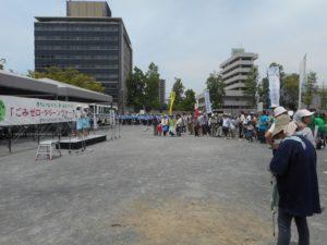 旧市民球場跡地での閉会式