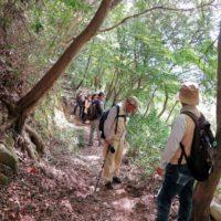 登山道の観察と安全確認